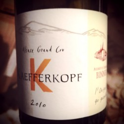 Domaine Christian Binner Alsace Grand Cru Kaefferkopf (L'OriginAl qui gazouille) 2010
