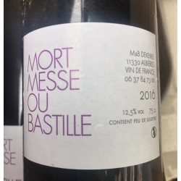 M&B Dekeirle Vin de France blanc Mort Messe ou Bastille 2016
