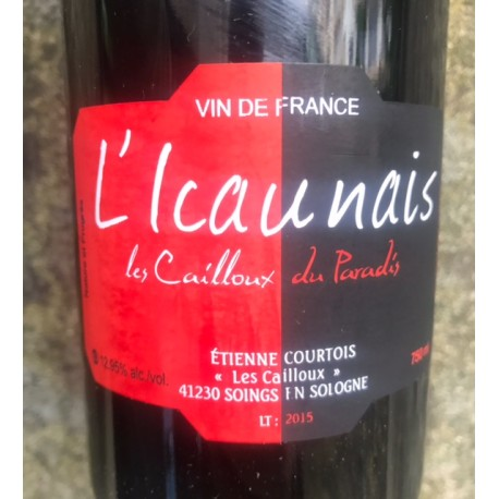 Les Cailloux du Paradis Vin de France L'Icaunais 2012