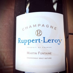 Ruppert-Leroy Champagne Blanc de Blancs Brut Nature Martin-Fontaine 2013