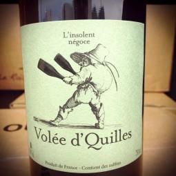François Ecot L'Insolent Négoce Vin de France rouge Volée d'Quilles 2014