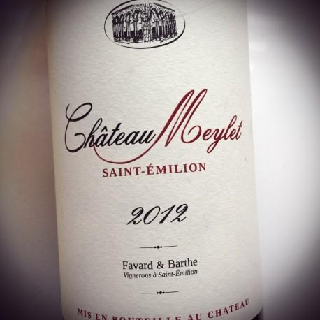 Château Meylet Saint Emilion Grand Cru 2012