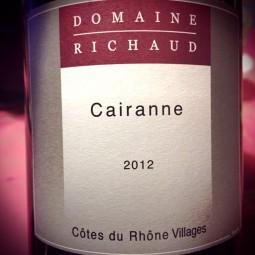 Domaine Richaud Côtes du Rhône-Villages Cairanne Sans Soufre 2012