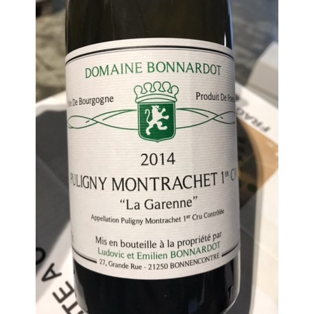 Domaine Bonnardot Puligny-Montrachet 1er Cru La Garenne 2014