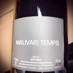 Nicolas Carmarans IGP Aveyron Mauvais Temps 2015 Magnum