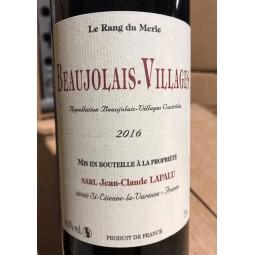 Jean-Claude Lapalu Vin de France Rang du Merle 2016