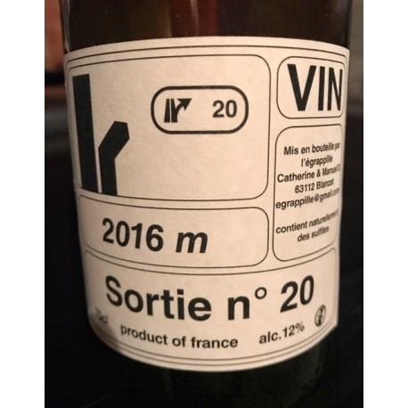 Catherine Dumora-L'Egrapillé Vin de France blanc Sortie N. 20 2016