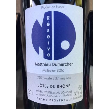 Matthieu Dumarcher Côtes du Rhône Réserve 2016