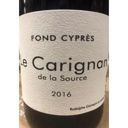 Fond Cyprès Vin de France Carignan 2016