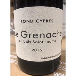 Fond Cyprès Vin de France Grenache du Bois Saint Jaume 2016