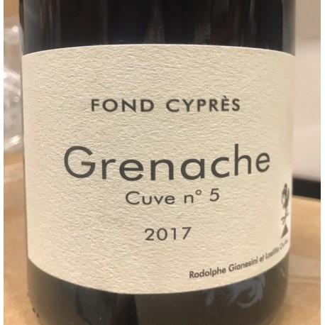 Fond Cyprès Vin de France Grenache Cuve N. 5 2016