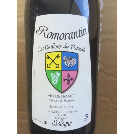 Les Cailloux du Paradis Vin de France blanc Romorantin 2010