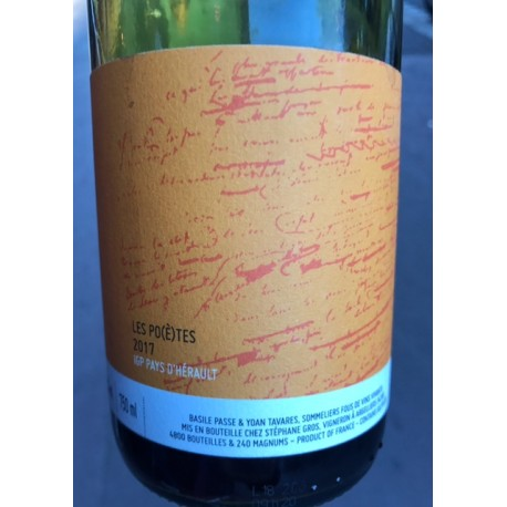 Vin des Potes IGP Hérault Vin des Poètes 2017