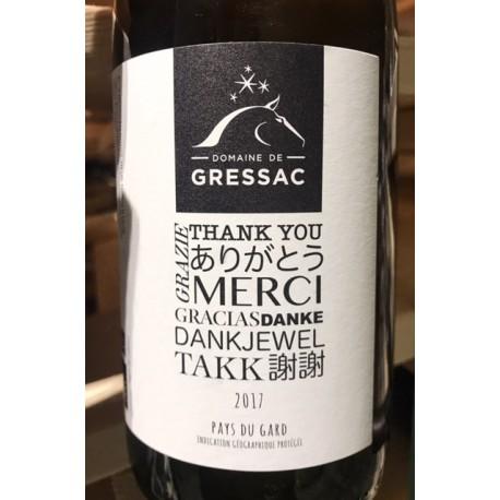Domaine de Gressac IGP Pays du Gard blanc Merci 2017