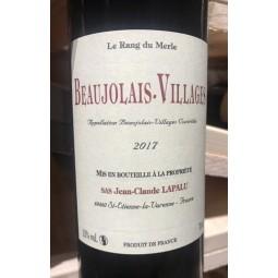 Jean-Claude Lapalu Beaujolais-Village Rang du Merle 2017