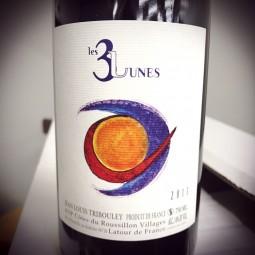 Jean-Louis Tribouley Vin de France Les 3 Lunes 2017