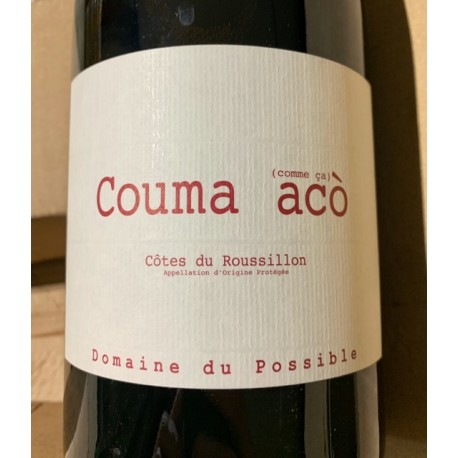 Domaine du Possible Côtes du Roussillon Couma Acò 2016 Magnum