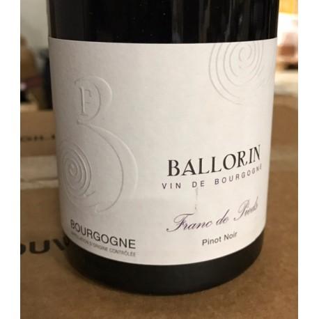 Gilles Ballorin Trading Bourgogne Pinot Noir Franc de Pied 2017