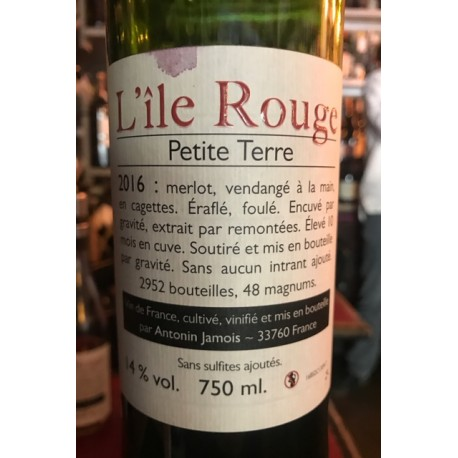 Domaine de l'Ile Rouge BordeauxPetite Terre 2016
