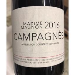 Maxime Magnon Corbières Campagnès 2017