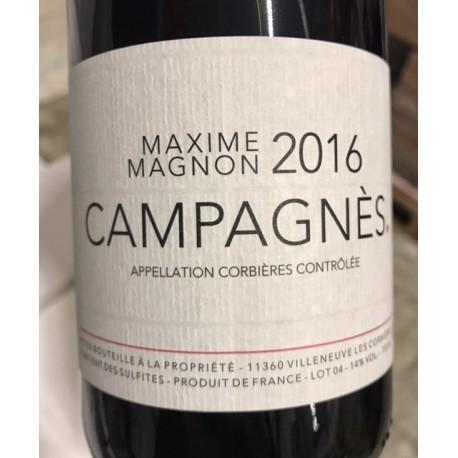 Maxime Magnon Corbières Campagnès 2014