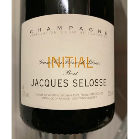 Selosse Champagne Brut Initial (dégorgement 2018)