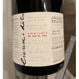 Selosse Champagne Brut Blanc de Noirs Bout du Clos (dégorgement 2018)