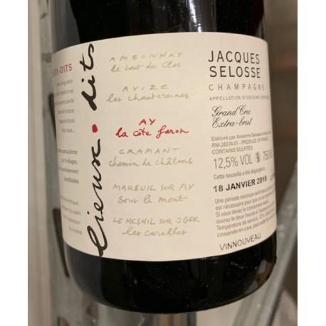 Selosse Champagne Brut Blanc de Noirs Côte Faron (dégorgement 2018)