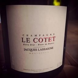 Jacques Lassaigne Champagne Extra Brut Blanc de Blancs Le Cotet