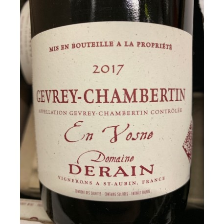 Domaine Derain Gevrey-Chambertin En Vosne 2017