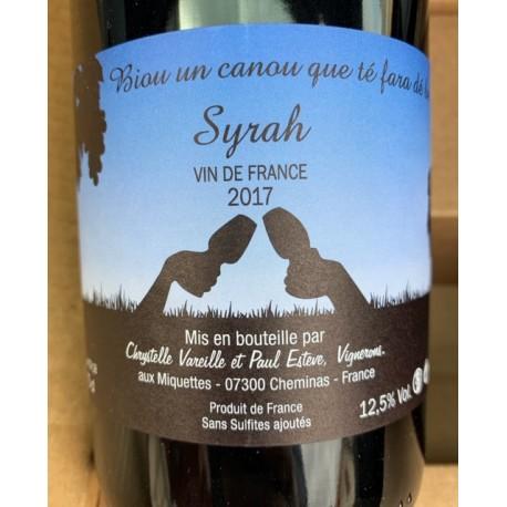 Domaine des Miquettes Vin de France Syrah 2017
