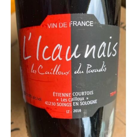 Les Cailloux du Paradis Vin de France rouge L'Icaunais 2016