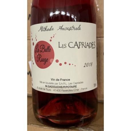 Les Capriades Vin de France Pet' Nat rosé Bulle Rouge 2018