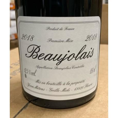 Yvon Métras Beaujolais  2018 Magnum