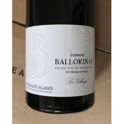 Domaine Ballorin & F Côtes de Nuits Villages Le Village 2018