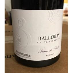 Gilles Ballorin Trading Bourgogne Pinot Noir Franc de Pied 2018