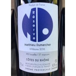 Matthieu Dumarcher Côtes du Rhône Réserve 2018