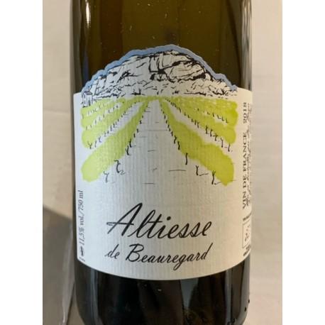Les Grangeons de l'Albarine Vin de France blanc Altiesse de Beauregard 2018