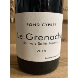 Fond Cyprès Vin de France Grenache 2015