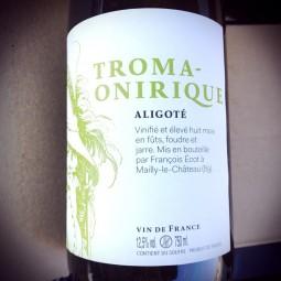 François Ecot L'Insolent Négoce Vin de France blanc Troma Onirique 2015
