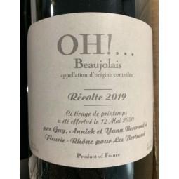 Domaine Les Bertrand Beaujolais Pure Oh! rigine 2016