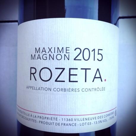 Maxime Magnon Corbières Rozeta 2015