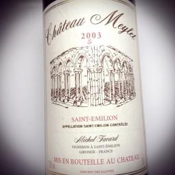 Château Meylet Saint Emilion Grand Cru Cuvée G 2003