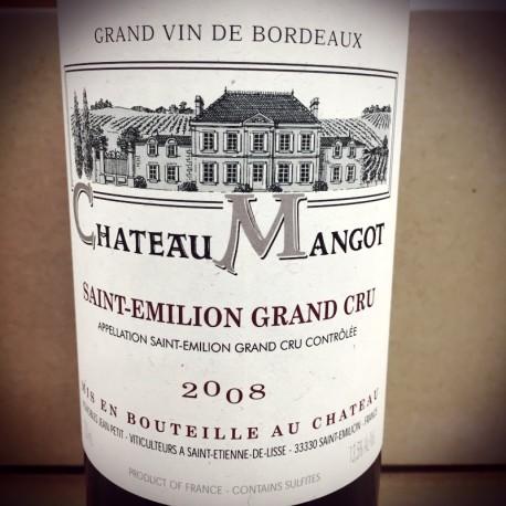Château Mangot Saint Emilion Grand Cru 2008