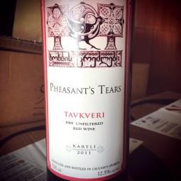 Pheasant's Tears Vin de Table rouge de Géorgie Tavkveri 2011